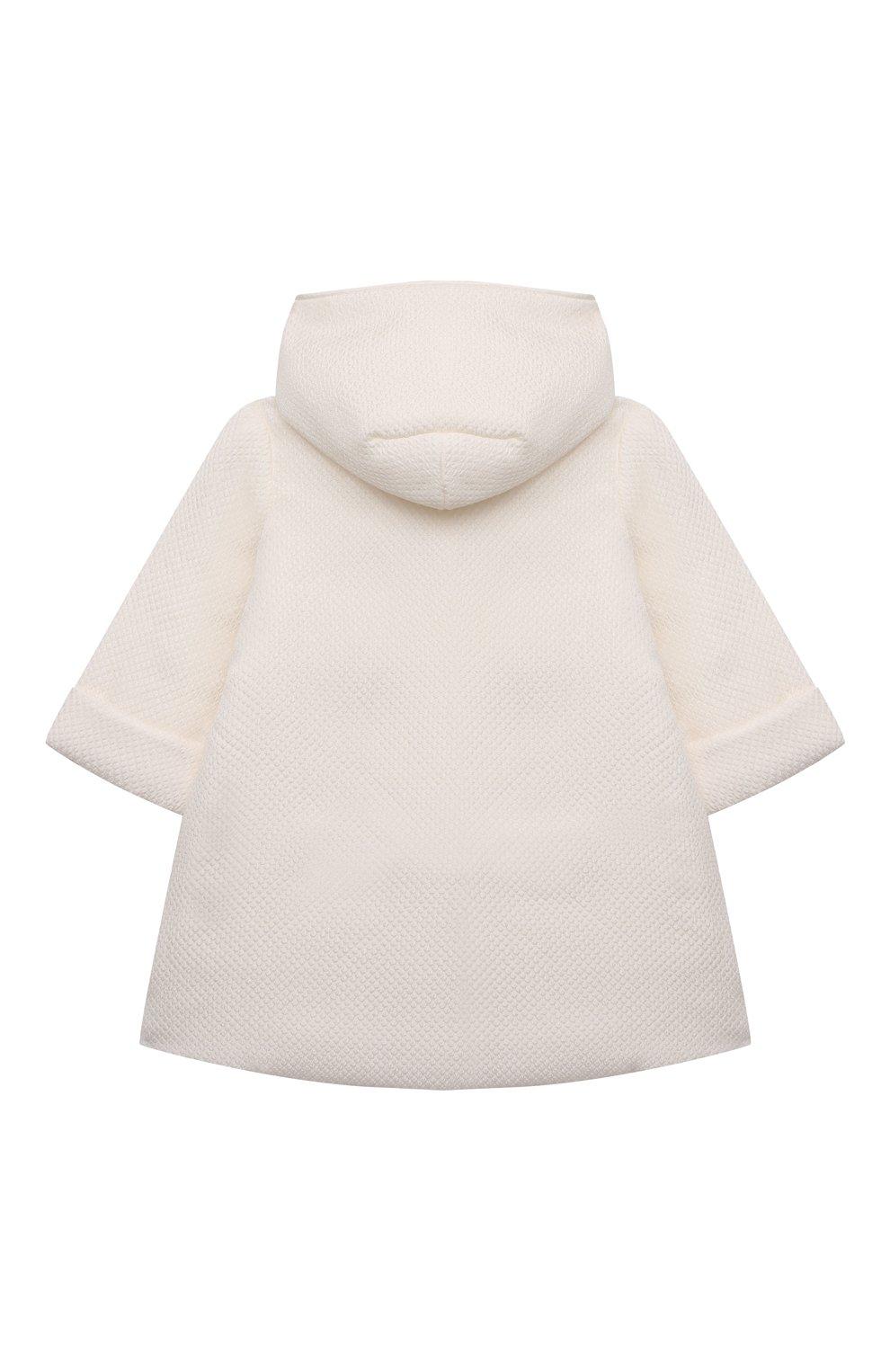 Детского комплект из семи изделий кружевной premium CHEPE кремвого цвета, арт. 351388   Фото 3 (Материал внешний: Хлопок; Ростовка одежда: 3 мес   62 см)