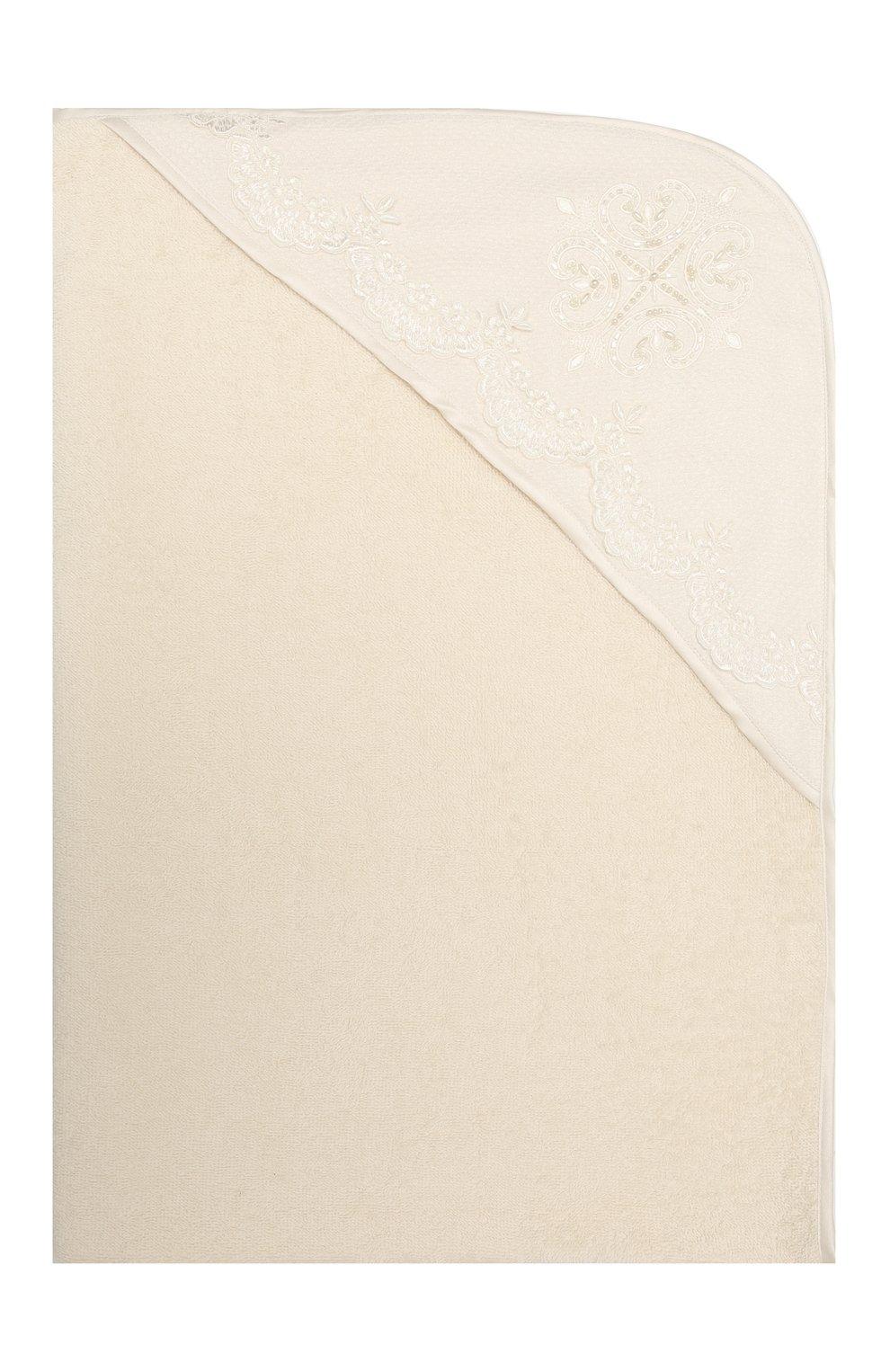 Детского комплект из семи изделий кружевной premium CHEPE кремвого цвета, арт. 351388   Фото 8 (Материал внешний: Хлопок; Ростовка одежда: 3 мес   62 см)