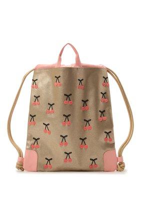 Детская сумка cherry pompon JEUNE PREMIER золотого цвета, арт. Ci021127   Фото 1