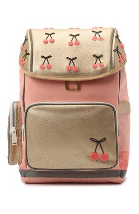 Детская рюкзак maxi cherry pompon JEUNE PREMIER золотого цвета, арт. Erx21127   Фото 1
