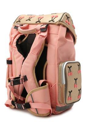 Детская рюкзак maxi cherry pompon JEUNE PREMIER золотого цвета, арт. Erx21127   Фото 2