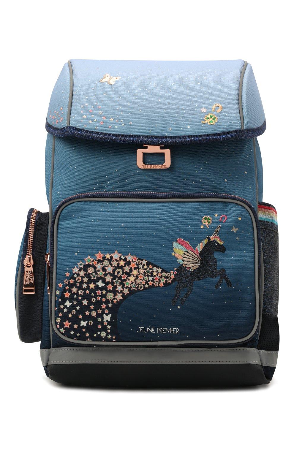 Детская рюкзак maxi unicorn universe JEUNE PREMIER синего цвета, арт. Erx21176   Фото 1 (Материал: Текстиль)