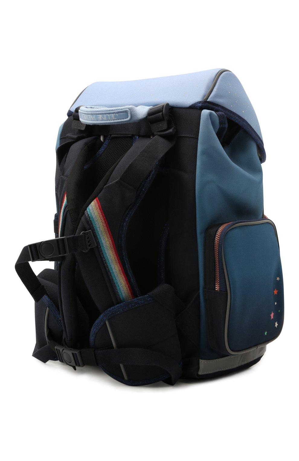 Детская рюкзак maxi unicorn universe JEUNE PREMIER синего цвета, арт. Erx21176   Фото 2 (Материал: Текстиль)