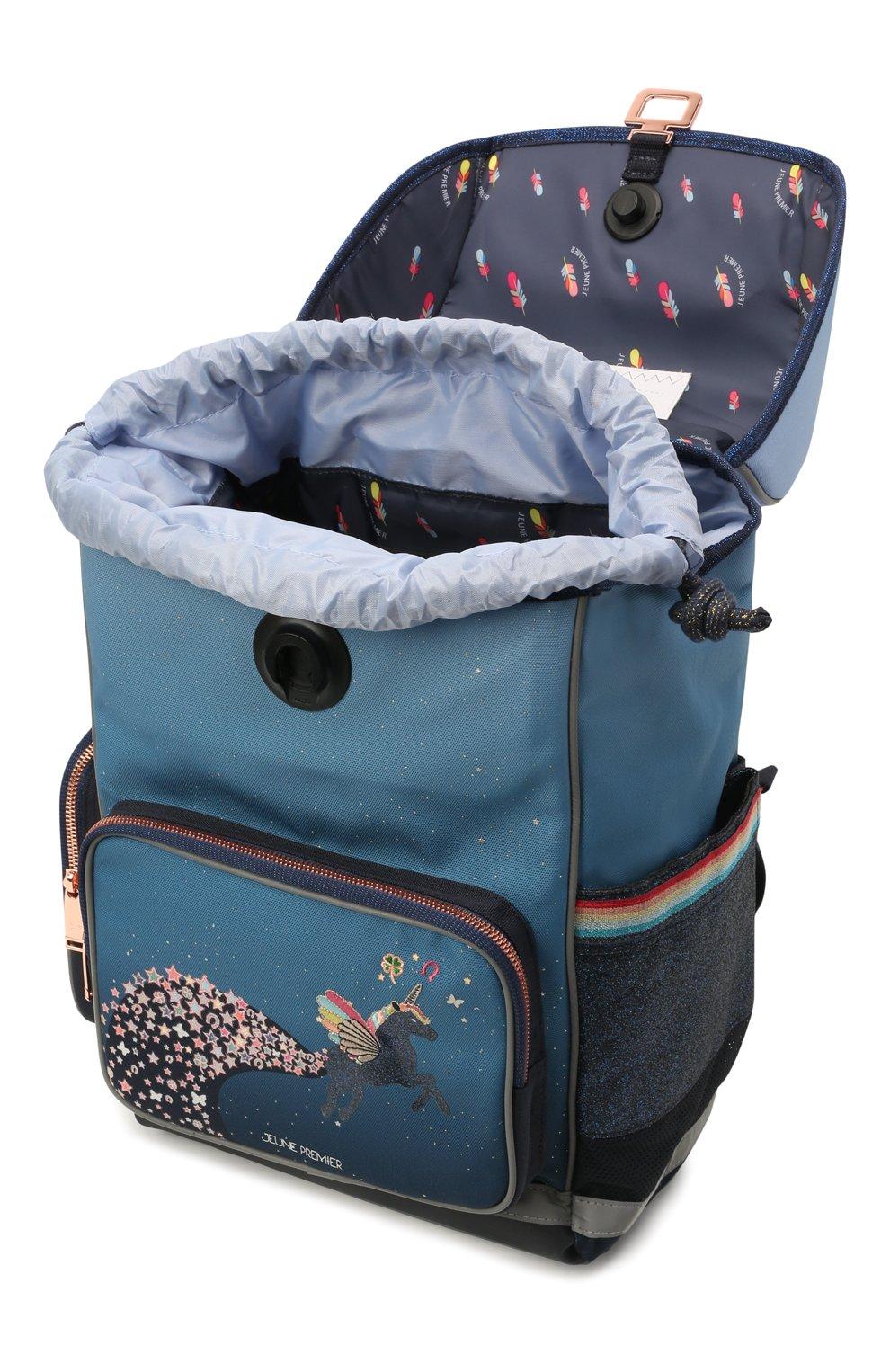 Детская рюкзак maxi unicorn universe JEUNE PREMIER синего цвета, арт. Erx21176   Фото 3 (Материал: Текстиль)