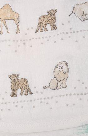 Детский комплект из трех нагрудников ADEN+ANAIS белого цвета, арт. ESNC30011 | Фото 2