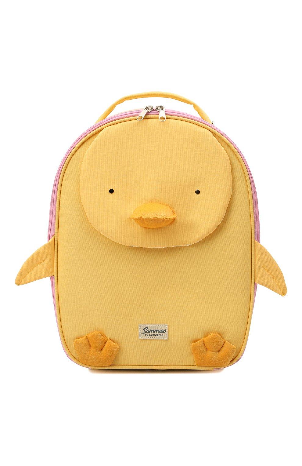 Детский чемодан happy sammies eco SAMSONITE желтого цвета, арт. KD7-06001   Фото 1 (Материал: Текстиль)