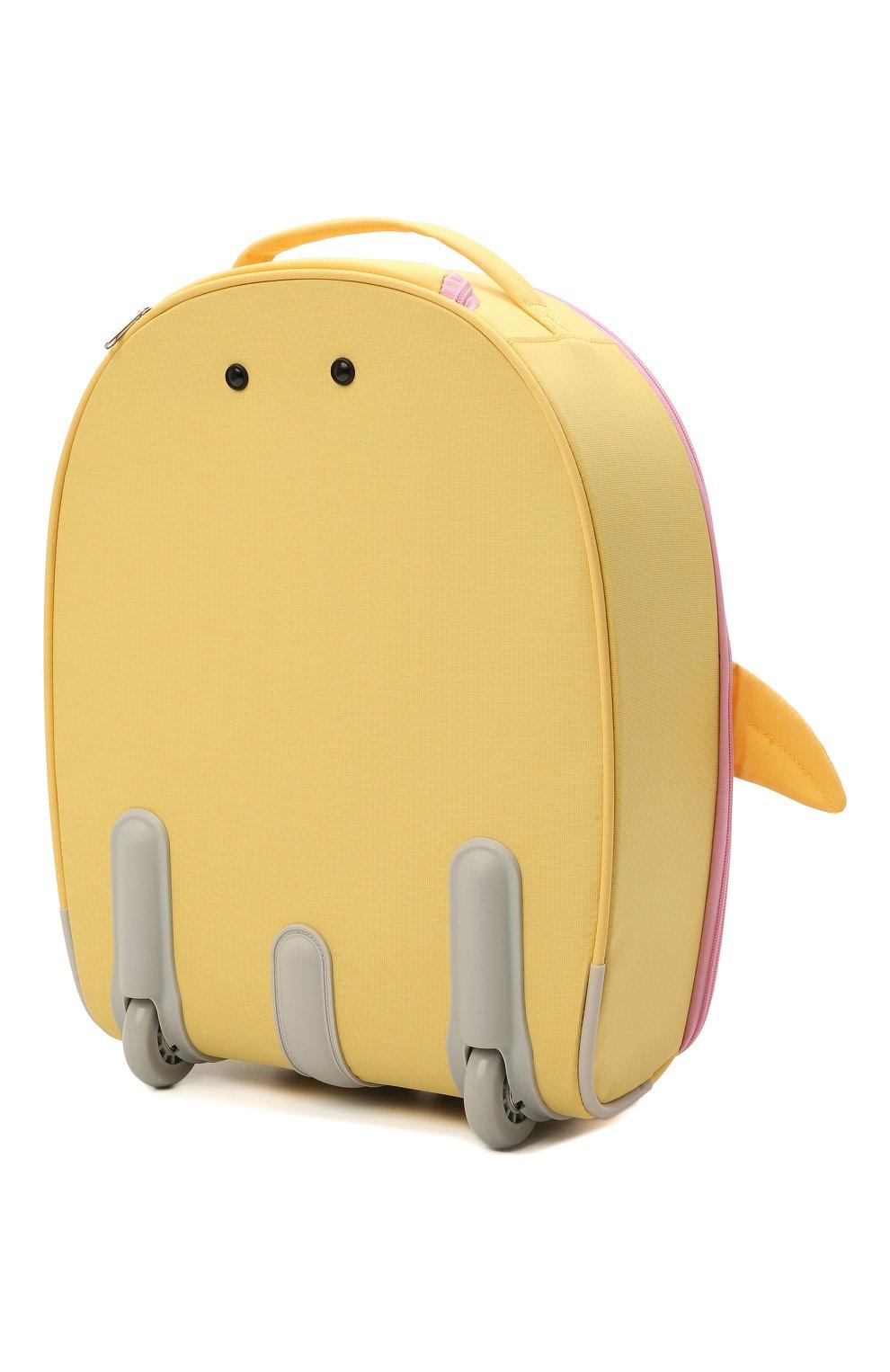 Детский чемодан happy sammies eco SAMSONITE желтого цвета, арт. KD7-06001   Фото 2 (Материал: Текстиль)
