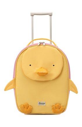 Детский чемодан happy sammies eco SAMSONITE желтого цвета, арт. KD7-06001   Фото 4 (Материал: Текстиль)