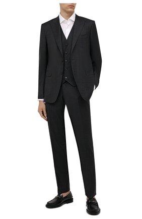 Мужской шерстяной костюм-тройка CANALI серого цвета, арт. 19227/93/BF00713 | Фото 1
