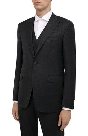 Мужской шерстяной костюм-тройка CANALI серого цвета, арт. 19227/93/BF00713 | Фото 2