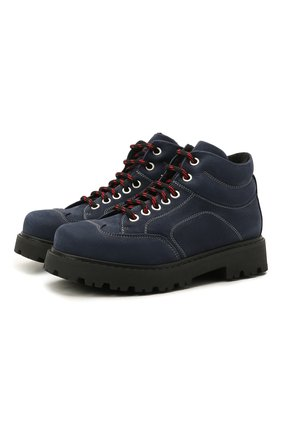 Детские кожаные ботинки MONTELPARE TRADITION синего цвета, арт. MT19207/M0RBID0NE/36-41 | Фото 1