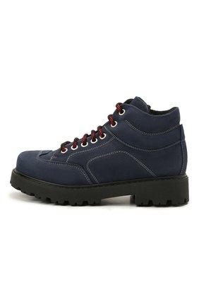 Детские кожаные ботинки MONTELPARE TRADITION синего цвета, арт. MT19207/M0RBID0NE/36-41 | Фото 2