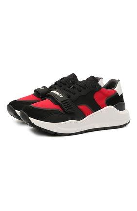 Мужские комбинированные кроссовки ramsey BURBERRY черного цвета, арт. 8042145 | Фото 1