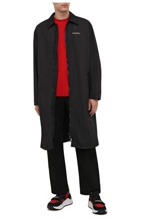 Мужские комбинированные кроссовки ramsey BURBERRY черного цвета, арт. 8042145 | Фото 2