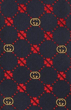 Детский шелковый галстук GUCCI темно-синего цвета, арт. 664151/4K022 | Фото 3 (Материал: Текстиль, Шелк)