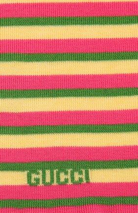 Детский шерстяной шарф GUCCI разноцветного цвета, арт. 660625/4K206 | Фото 2 (Материал: Шерсть)