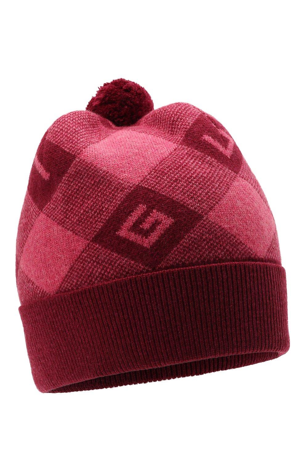 Детского шерстяная шапка GUCCI розового цвета, арт. 658601/4K206 | Фото 1 (Материал: Шерсть)