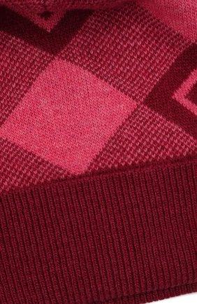 Детского шерстяная шапка GUCCI розового цвета, арт. 658601/4K206 | Фото 3 (Материал: Шерсть)