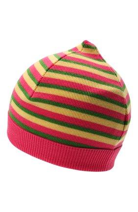 Детского шерстяная шапка GUCCI разноцветного цвета, арт. 658497/3K206 | Фото 2
