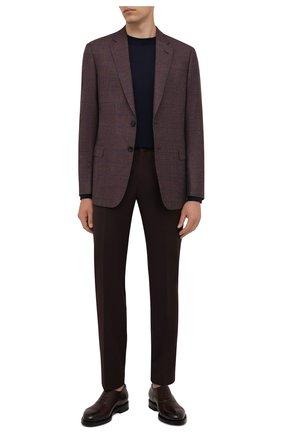 Мужской пиджак из шерсти и кашемира GIORGIO ARMANI коричневого цвета, арт. 8WGGG00K/T02UW | Фото 2 (Длина (для топов): Стандартные; Материал внешний: Шерсть; Материал подклада: Вискоза; Рукава: Длинные; 1-2-бортные: Однобортные; Пиджаки М: Прямой; Случай: Коктейльный; Стили: Классический)