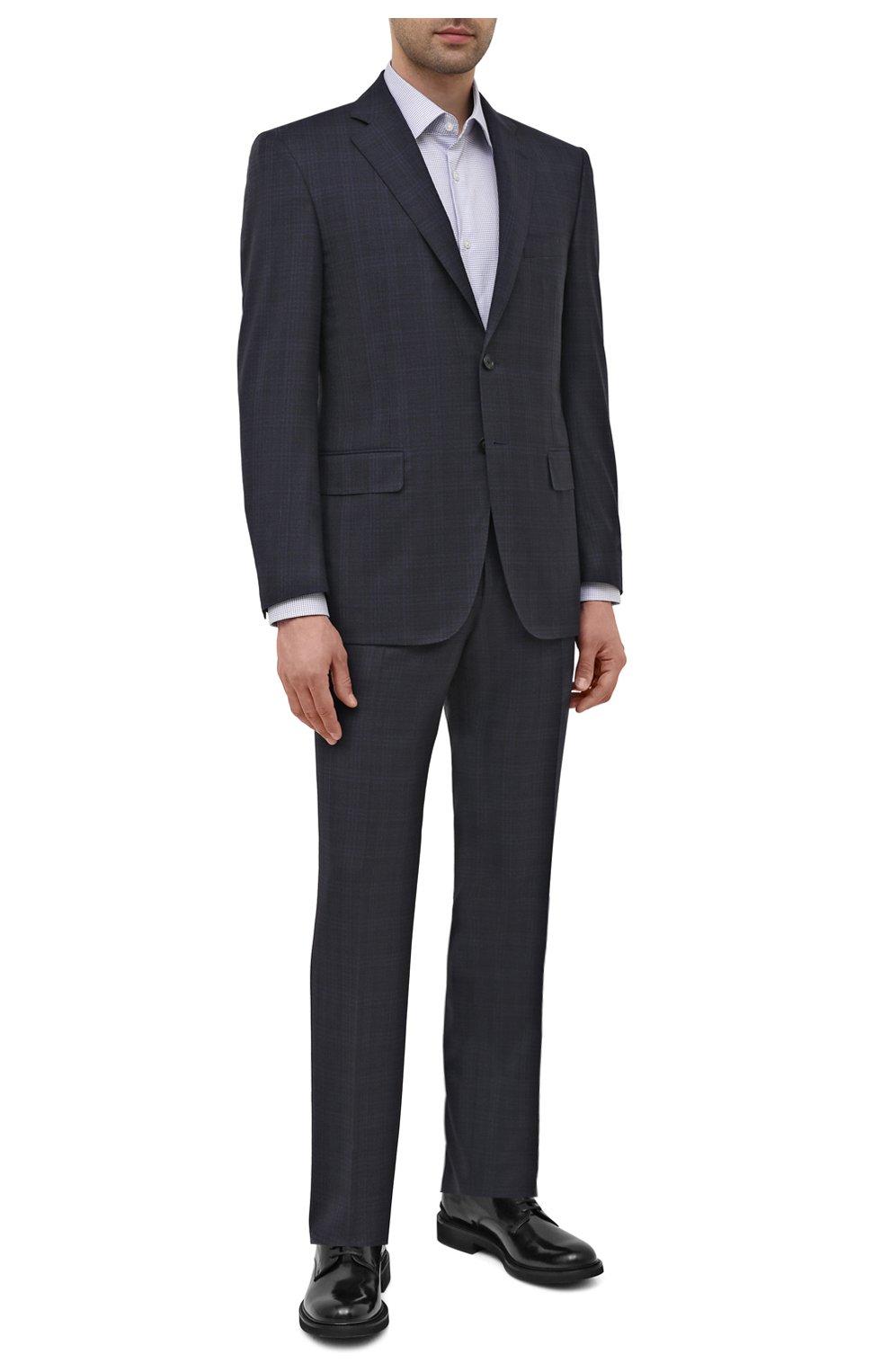 Мужские кожаные дерби TOD'S черного цвета, арт. XXM06H00C20AKT   Фото 2 (Материал внутренний: Натуральная кожа; Стили: Классический)