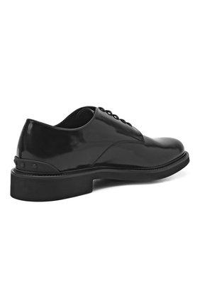 Мужские кожаные дерби TOD'S черного цвета, арт. XXM06H00C20AKT   Фото 4 (Материал внутренний: Натуральная кожа; Стили: Классический)