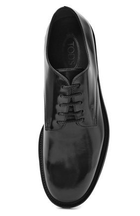 Мужские кожаные дерби TOD'S черного цвета, арт. XXM06H00C20AKT   Фото 5 (Материал внутренний: Натуральная кожа; Стили: Классический)