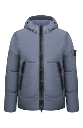 Мужская пуховая куртка STONE ISLAND серо-голубого цвета, арт. 751540123 | Фото 1 (Длина (верхняя одежда): Короткие; Материал подклада: Синтетический материал; Рукава: Длинные; Материал внешний: Синтетический материал; Кросс-КТ: Куртка; Мужское Кросс-КТ: пуховик-короткий; Стили: Гранж; Материал утеплителя: Пух и перо)