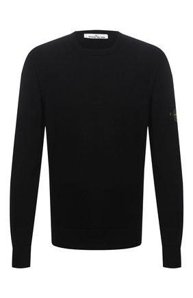 Мужской шерстяной джемпер STONE ISLAND черного цвета, арт. 7515526C4 | Фото 1