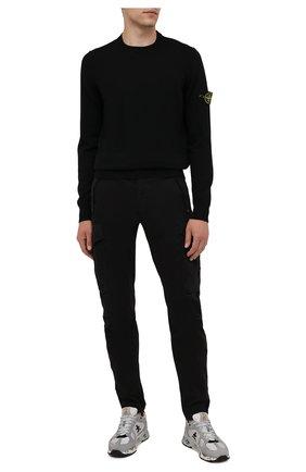 Мужской шерстяной джемпер STONE ISLAND черного цвета, арт. 7515526C4 | Фото 2