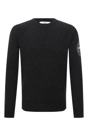 Мужской шерстяной свитер STONE ISLAND темно-серого цвета, арт. 7515514B7   Фото 1