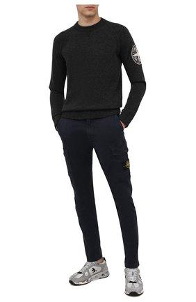 Мужской шерстяной свитер STONE ISLAND темно-серого цвета, арт. 7515514B7   Фото 2