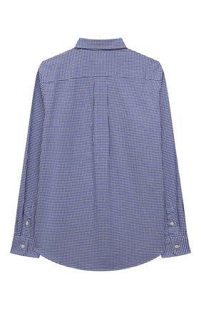 Детская хлопковая рубашка POLO RALPH LAUREN синего цвета, арт. 323845293 | Фото 2