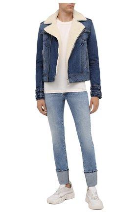 Мужская джинсовая куртка BALMAIN синего цвета, арт. WH1TD125/144D | Фото 2