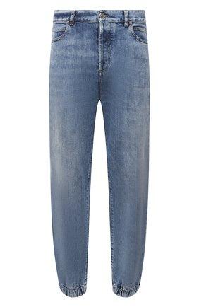 Мужские джинсы BALMAIN синего цвета, арт. WH1MD010/142D | Фото 1