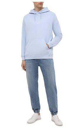 Мужские джинсы BALMAIN синего цвета, арт. WH1MD010/142D | Фото 2
