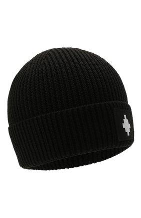 Мужская шапка MARCELO BURLON черного цвета, арт. CMLC007F21KNI001 | Фото 1