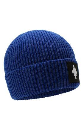 Мужская шапка MARCELO BURLON синего цвета, арт. CMLC007F21KNI001   Фото 1