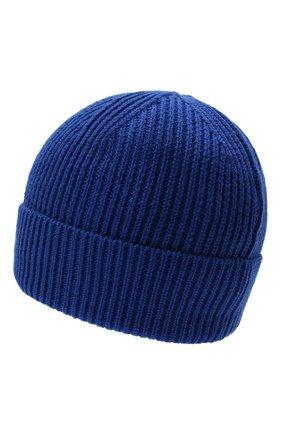 Мужская шапка MARCELO BURLON синего цвета, арт. CMLC007F21KNI001   Фото 2