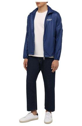 Мужская куртка EMPORIO ARMANI синего цвета, арт. 6K1B64/1NWNZ | Фото 2 (Длина (верхняя одежда): Короткие; Материал внешний: Синтетический материал; Рукава: Длинные; Кросс-КТ: Куртка, Ветровка; Стили: Спорт-шик)