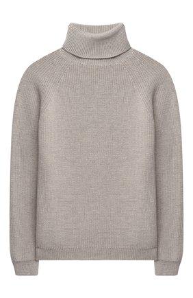 Детский шерстяной свитер DAL LAGO бежевого цвета, арт. W532/9117/13-16 | Фото 1 (Материал внешний: Шерсть; Рукава: Длинные; Мальчики Кросс-КТ: Пуловер-одежда; Ростовка одежда: 13 - 15 лет | 158 см, 16 лет | 164 см)