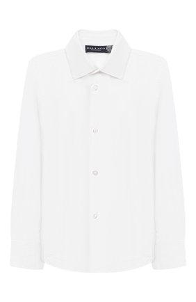 Детская хлопковая рубашка DAL LAGO белого цвета, арт. N402/9133/4-6 | Фото 1