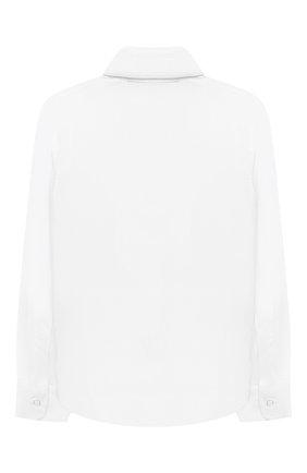 Детская хлопковая рубашка DAL LAGO белого цвета, арт. N402/9133/4-6 | Фото 2