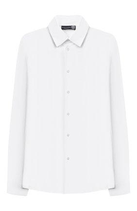 Детская хлопковая рубашка DAL LAGO белого цвета, арт. N402/9133/13-16 | Фото 1