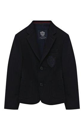 Детский хлопковый пиджак DAL LAGO темно-синего цвета, арт. N068S/8945/4-6   Фото 1