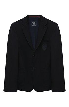 Детский хлопковый пиджак DAL LAGO темно-синего цвета, арт. N068S/8945/13-16   Фото 1
