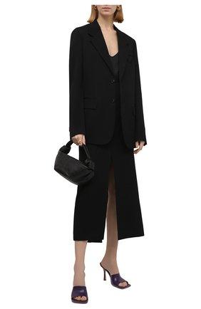 Женские кожаные мюли the stretch BOTTEGA VENETA темно-сиреневого цвета, арт. 610538/VBSF0 | Фото 2