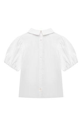 Детское хлопковая блузка BURBERRY белого цвета, арт. 8042927   Фото 2