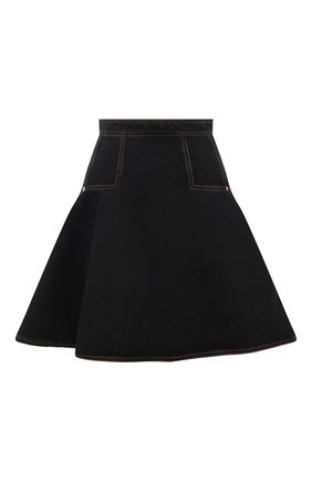 Женская джинсовая юбка ALEXANDER MCQUEEN темно-серого цвета, арт. 666455/QMABF | Фото 1