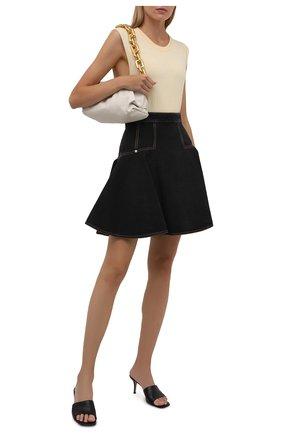 Женская джинсовая юбка ALEXANDER MCQUEEN темно-серого цвета, арт. 666455/QMABF | Фото 2